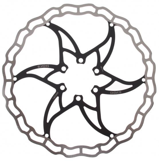 Elvedes remschijf 180 mm 6 gaats staal zilver/zwart
