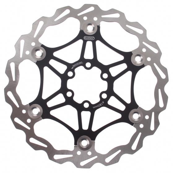 Elvedes remschijf 180 mm 6 gaats staal zwart/zilver