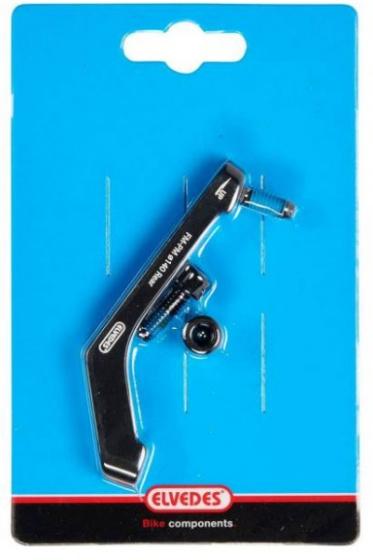 Elvedes remschijf adapter 140 mm achter FM PM aluminium zwart