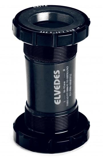 Elvedes trapas Shimano kunststof/staal 70 mm zwart 24 mm