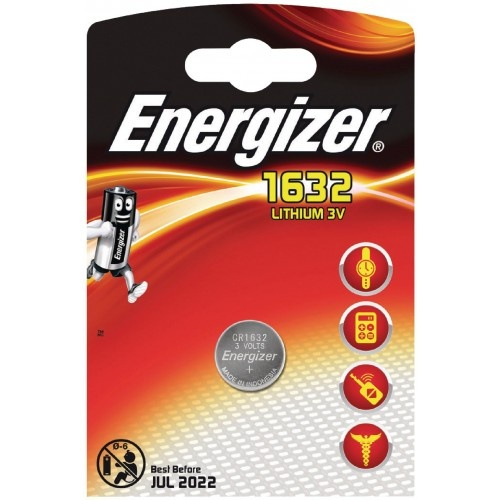 Energizer batterij knoopcel Lithium 3V CR1632 per stuk