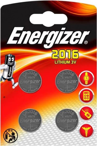 Energizer batterij knoopcel Lithium 3V CR2016 4 stuks