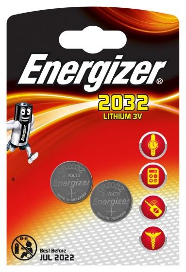 Energizer batterij knoopcel Lithium 3V CR2032 2 stuks