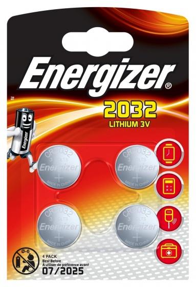Energizer batterij knoopcel Lithium 3V CR2032 4 stuks