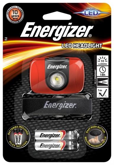 Energizer hoofdlamp met hoofdband 6 cm rood/zwart