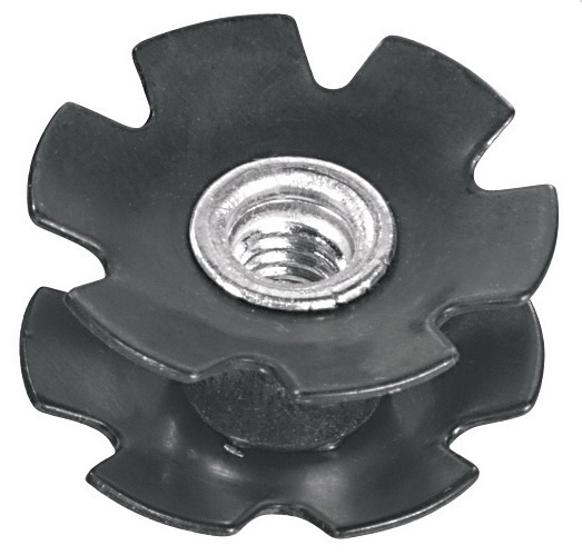 Ergotec Balhoofdplug Ster One Time 1 1/8 Inch Aluminium Zwart