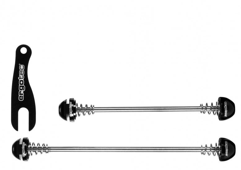 Ergotec Quick Release Safety Set 100 + 130mm Zwart