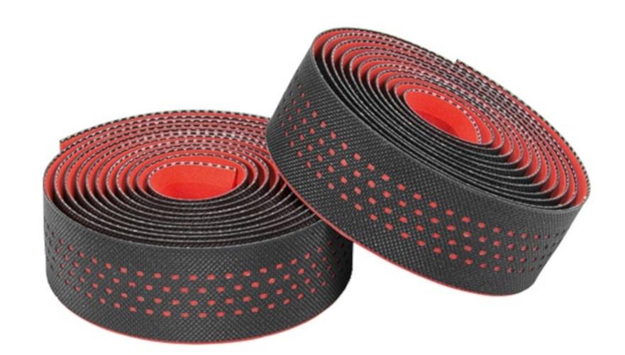 Korting Ergotec Stuurlinten San Remo 200 X 3 Cm Zwart rood 2 Stuks