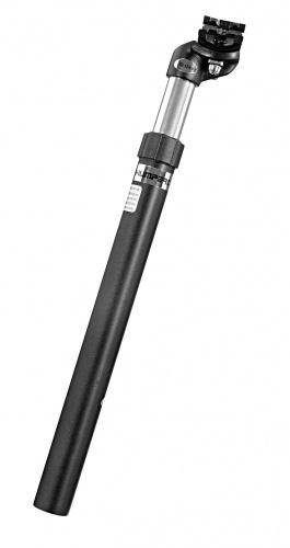 Ergotec Zadelpen verend SP 4.1 27.2 x 350 mm aluminium zwart
