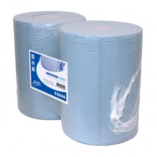 Euro Products Industriepapier Blauw 400 Meterx37 cm 2 Rollen
