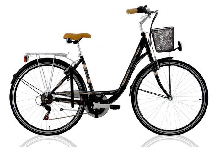 Excel Central Park 28 Inch 46 cm Dames 18V V Brake Zwart