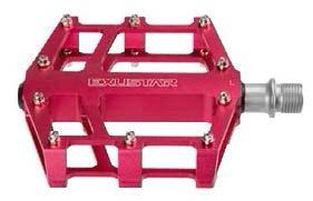 Exustar Platformpedaal BMX / Enduro 9/16 Inch rood per set