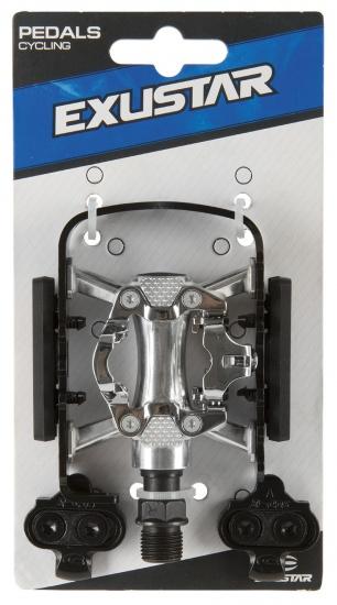Exustar Half Klik platformpedaal MTB E PM818 9/16 Inch zwart set