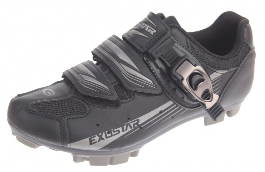 Exustar Fietsschoenen E SM3116B MTB heren zwart/grijs maat 41