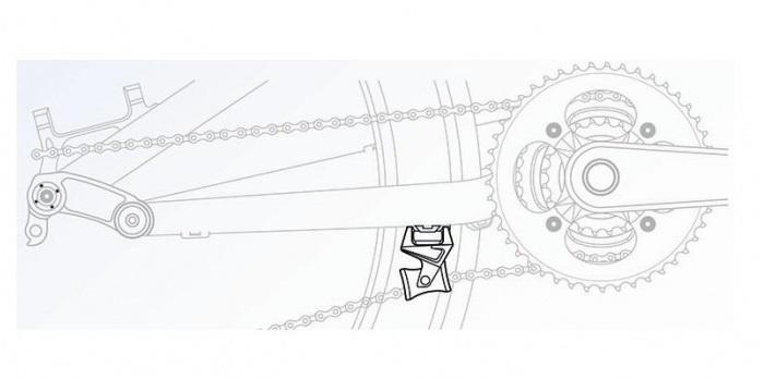 Exustar Kettinggeleider Nylon 24 Gram Zwart