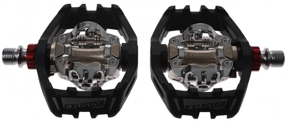 Exustar klikpedalen set PM825 SPD zwart/zilver