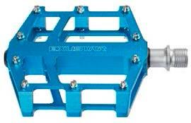 Exustar Platformpedaal BMX / Enduro 9/16 Inch blauw per set
