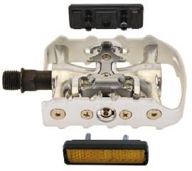 Exustar Half Klik platformpedaal MTB E PM82 S 9/16 Inch Zilver Set