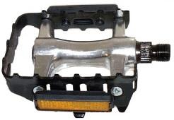 Components Platformpedaal MTB 9/16 Inch Reflector Zwart Set