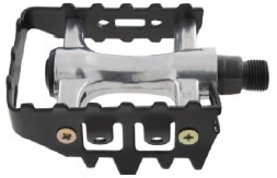 Components Platformpedaal MTB 9/16 Inch Aluminium Zwart Set