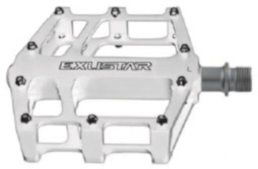 Exustar Platformpedaal BMX E PB525 WH 9/16 Inch wit per set