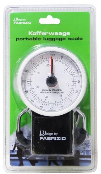 Fabrizio kofferweegschaal 35 kg zwart/wit 12 cm