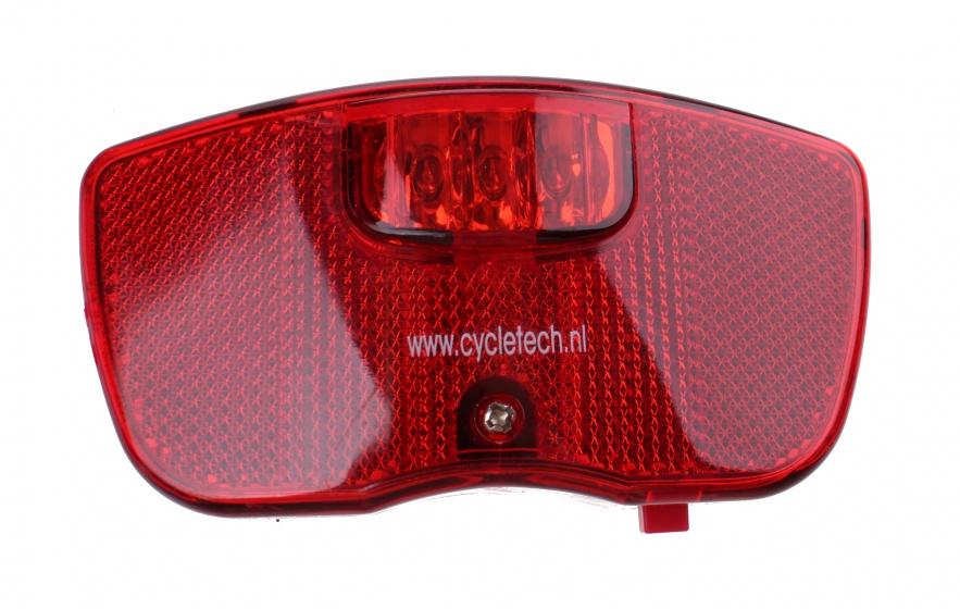 Falkx achterlicht led luxe batterijen rood