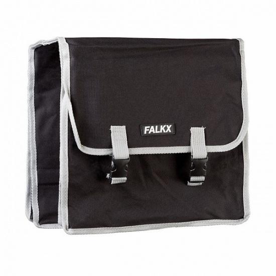 Falkx dubbele fietstas 30L zwart