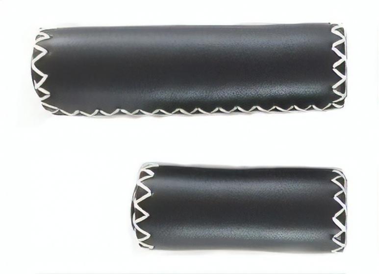 Falkx handvatten leer 125/85 mm zwart