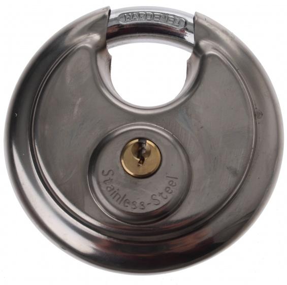 Falkx hangslot discus 90 x 11 mm zilver