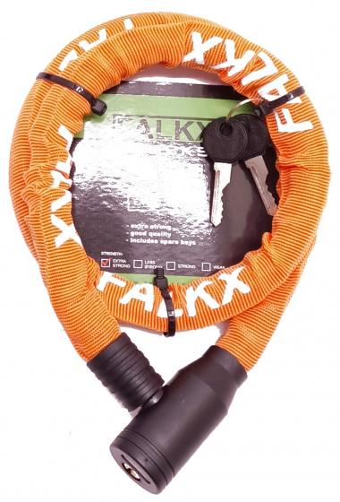 Falkx kabelslot Python 90 x 1,5 cm oranje