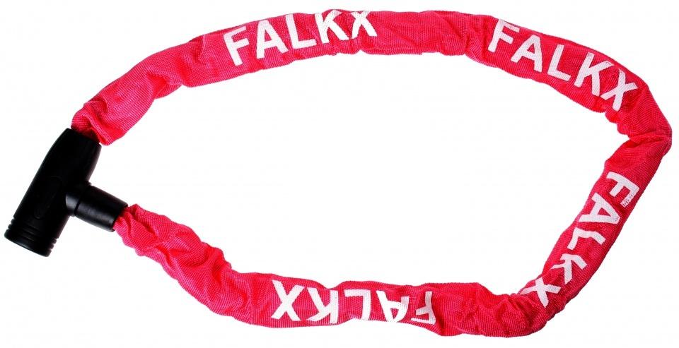 Falkx kettingslot 1200 x 8 mm staal/nylon rood