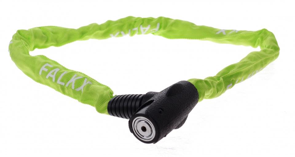 Falkx Kettingslot met nylon hoes 1000 x 6 mm groen