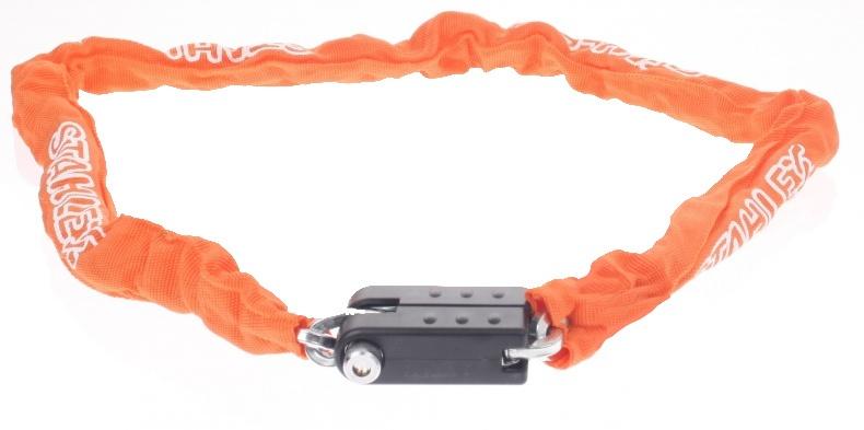 Falkx Kettingslot met nylon hoes 1200 x 5,5 mm oranje