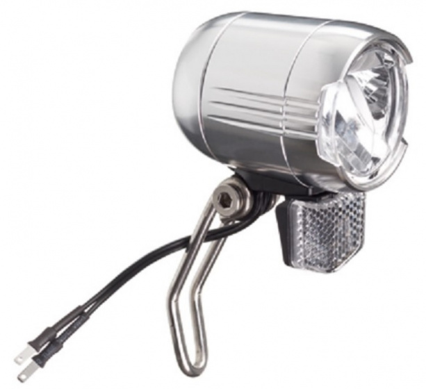 Falkx koplamp LED E Bike 6V 48V aluminium zilver