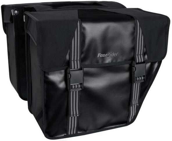 FastRider Dubbele Fietstas Trendy zwart 32 x 35 x 16 cm
