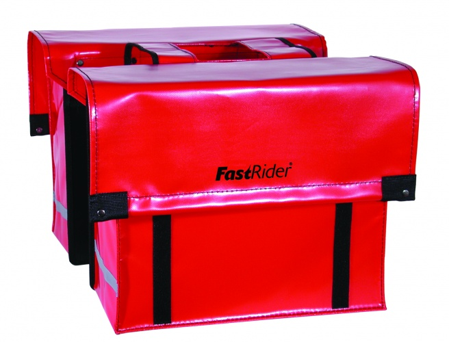 FastRider dubbele fietstas Cargo 46L rood