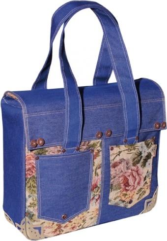 FastRider shopper Denim 17 liter blauw