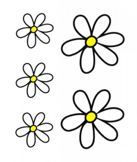 FC fietsstickers Bloemen junior 23 x 20 cm papier zwart/geel