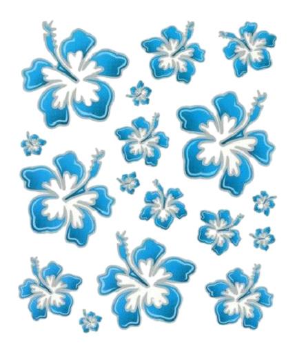 FC fietsstickers Hawaii 24 x 20 cm papier blauw