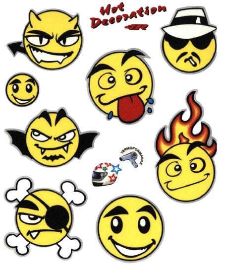 FC fietsstickers Smileys 13,5 x 16 cm papier geel