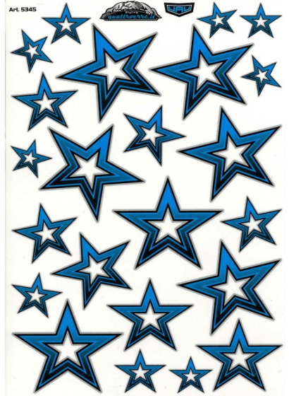 FC fietsstickers Sterren junior 34 x 24 cm papier blauw