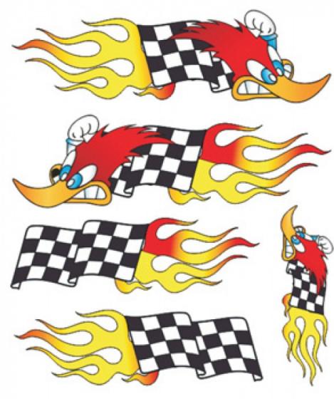 FC fietsstickers Woodpeckervlag junior 20 x 24 cm papier