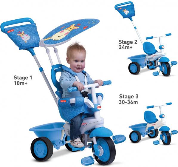 Fisher Price 3 in 1 driewieler Elite Junior Wit/Blauw
