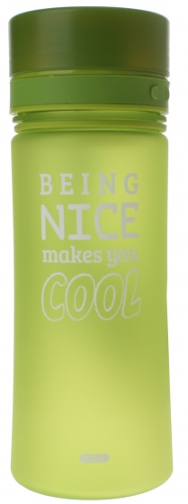 Fresh & Cold bidon being nice makes you cool 500 ml groen