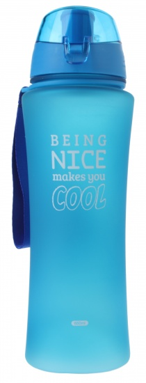 Fresh & Cold bidon being nice makes you cool 650 ml blauw