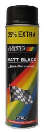 Motip Verf Mat Zwart 500 ml