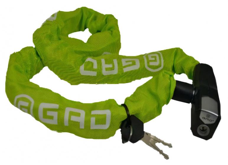 GAD kettingslot Antiro 110 cm staal/messing groen