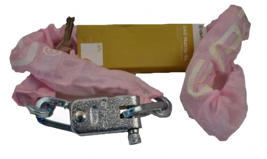 GAD kettingslot Matrix SL 110 cm staal/messing roze