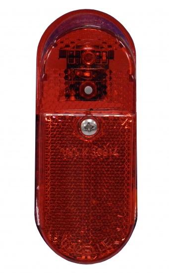 Gazelle achterlicht XB batterij led rood
